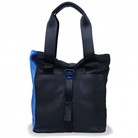 Backpack Shopper in Black and Submarine
