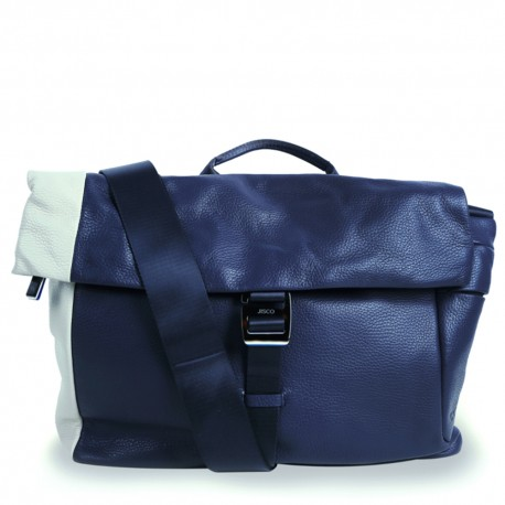 Messenger in Navy Blue and Cream