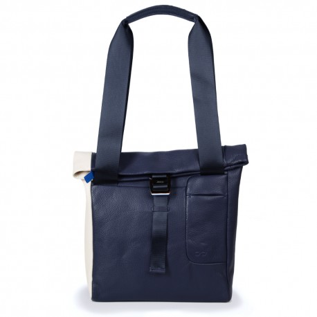 Shopper in Navy Blue and Cream