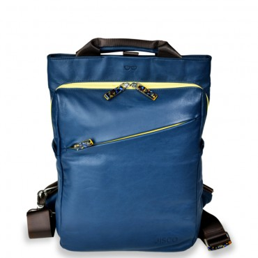 Backpack Shopper in Navy and Yellow