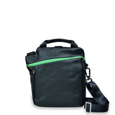 Mini Messenger in Black and Green