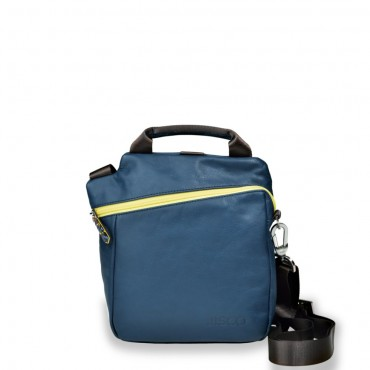 Mini Messenger in Navy and Yellow