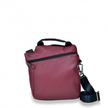 Mini Messenger in Dark Red and Black