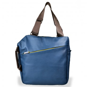 Weekender Shopper in Navy and Yellow