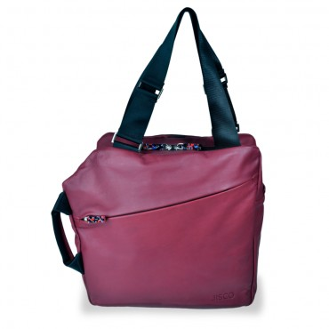 Weekender Shopper in Dark Red and Black
