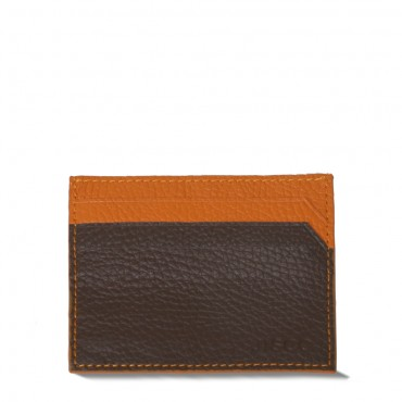 Cardholder in Chocolate and Orange
