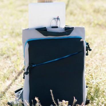 Neoprene Backpack Grey & Blue