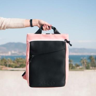 Grey & Pink Neoprene Backpack